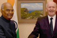 President of India, Ram Nath Kovind, meeting with General the Sir Peter Cosgrov, Governor General of Australia