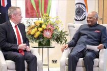 Leader of opposition (TBC), calling on The President of India, Ram Nath Kovind at Melbourne