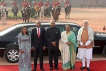 President of India, Ram Nath Kovind During the ceremonial reception of the President of Republic of Maldives,
