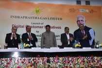 CNG Queue Management System (QMS) and Social CRM of IGL launched by Dharmendra Pradhan
