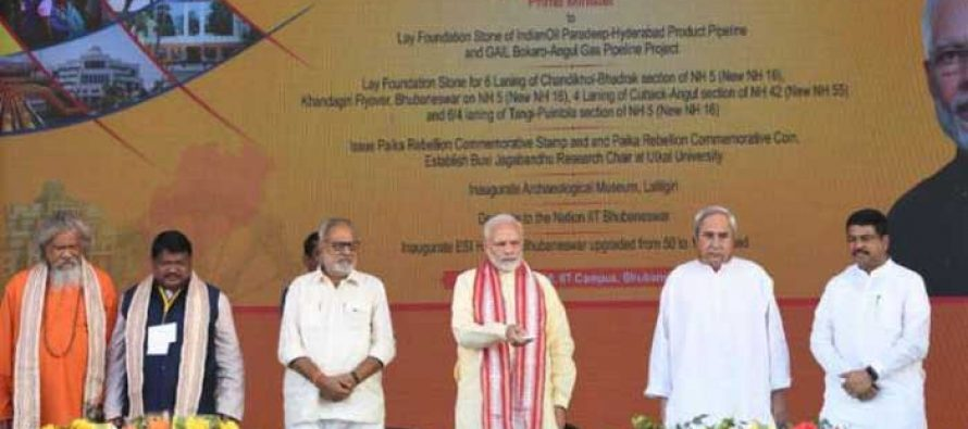 Prime Minister lays foundation stone of Bokaro – Angul section of 'Pradhan Mantri Urja Ganga'