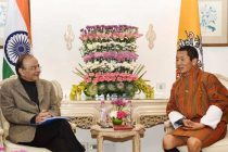 Minister for Finance and CA, Arun Jaitley calling on the Prime Minister of Bhutan, Dr. Lotay Tshering,
