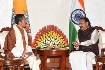 The Prime Minister of Bhutan, Dr. Lotay Tshering calling on the Vice President, M. Venkaiah Naidu