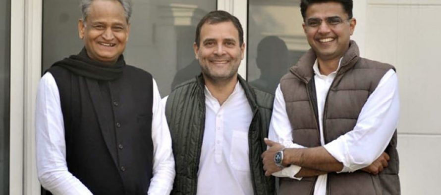 Gehlot to pilot Rajasthan again, Sachin Pilot to be Dy CM
