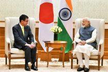 The Foreign Minister of Japan, Taro Kono calling on the Prime Minister, Narendra Modi