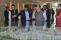LT. GOVERNOR, DELHI VISITS NBCC EAST KIDWAI NAGAR PROJECT