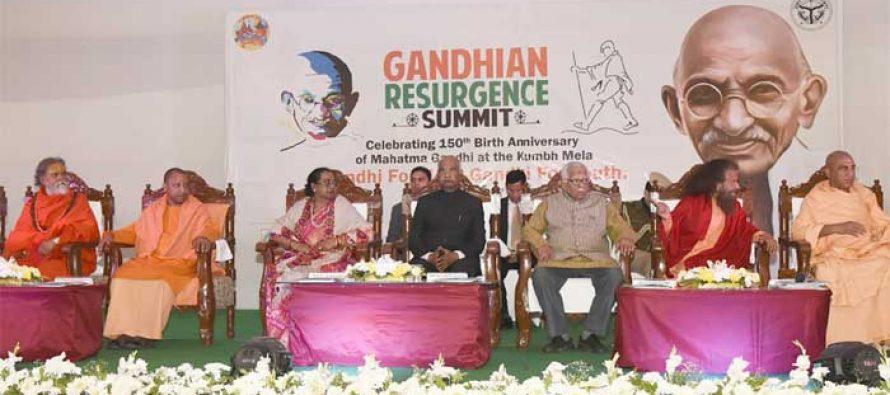 Kovind inaugurates Gandhian Resurgence Summit at Kumbh Mela