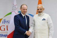The Prime Minister, Narendra Modi meeting the Prime Minister of Malta, Joseph Muscat
