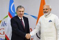The Prime Minister, Narendra Modi meeting the President of Uzbekistan, Shavkat Mirziyoyev