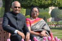 The President of India, Shri Ram Nath Kovind, gracing the opening of Mughal Garden