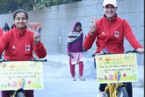 Manika Batra leads IndianOil's Cycle Rally for a Greener and Cleaner India