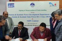 MOU exchanged among NHPC, JKPDD and JKSPDC towards executing  850 MW Ratle HEP
