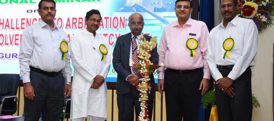 """NLC organises National Seminar on """"Trends and Challenges to Arbitration in the light of Insolvency and Bankruptcy code"""""""
