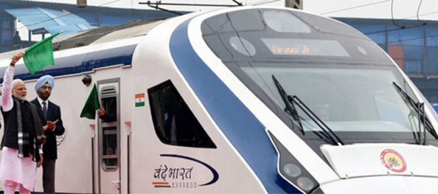 Video : PM Modi flagging off the Vande Bharat Express