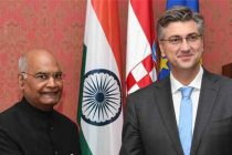 The President, Ram Nath Kovind and the Prime Minister of the Republic of Croatia, Andrej Plenkovic
