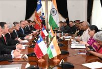 PRESIDENT OF INDIA IN CHILE; LEADS DELEGATION LEVEL TALKS