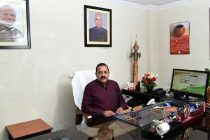 Dr. Jitendra Singh taking charge as the Minister of State (IC) for Development of North Eastern Region
