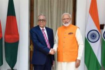 The Prime Minister, Narendra Modi meeting the President of People's Republic of Bangladesh, Md. Abdul Hamid