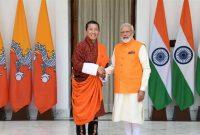 The Prime Minister, Narendra Modi meeting the Prime Minister of Bhutan, Dr. Lotay Tshering