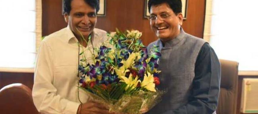 Piyush Goyal takes charge as Railway Minister