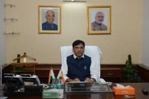 MANSUKH L MANDAVIYA TAKES OVER AS MINISTER OF STATE WITH INDEPENDENT CHARGE FOR SHIPPING