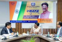 Arvind Sawant, Minister for HI&PE, reviews Performance of BHEL