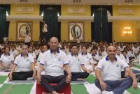 The President of India, Ram Nath Kovind, inaugurated an event to mark the International Day of Yoga