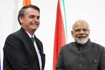 The Prime Minister, Narendra Modi meeting the President of Brazil, Jair Bolsonaro
