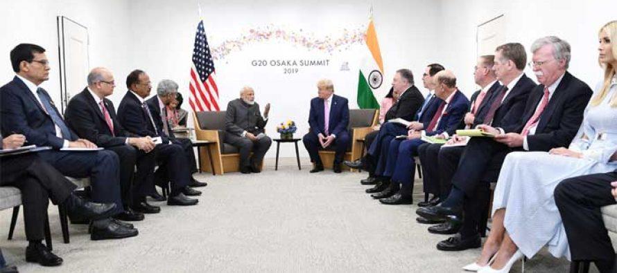 Modi, Trump pledge 'strong leadership to address global challenges'