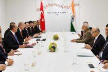 The Prime Minister, Narendra Modi meeting the President of Turkey, Recep Tayyip Erdoga