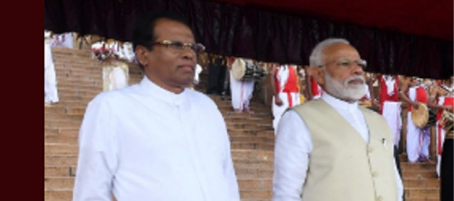 Sri Lanka can't be cowed down by terror, says PM Modi