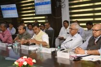 The Minister of State for Power, New & Renewable Energy (Independent Charge) and Skill Development & Entrepreneurship, Shri Raj Kumar Singh chairing the meeting of the Power and Renewable Energy Ministers of Renewable resource-rich states, in New Delhi on June 11, 2019. The Secretary, MNRE, Shri Anand Kumar is also seen.