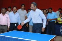 R. VIKRAMAN Director HR  NLCIL inaugurates NLC India Limited's 6th  State Ranking Table Tennis Tournament -2019