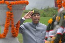 PRESIDENT OF INDIA IN SRINAGAR; PAYS TRIBUTES AT CHINAR CORPS (15 CORPS) WAR MEMORIAL ON 20TH KARGIL VIJAY DIWAS
