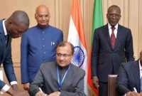 President of India in Benin; leads delegation level talks with President of Benin