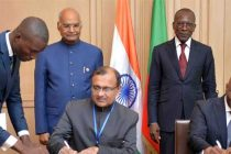 President of India in Benin; leads delegation level talks with President of Benin