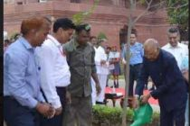 PRESIDENT OF INDIA LAUNCHES TREE PLANTATION DRIVE AT RASHTRAPATI BHAVAN