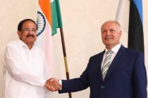 The Vice President, M. Venkaiah Naidu at a meeting with the President of the Riigikogu, Henn Polluaas