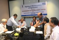 Agreement signed between Government of Assam and NHPC for implementation of 2000 MW Subansiri Lower Hydroelectric Project