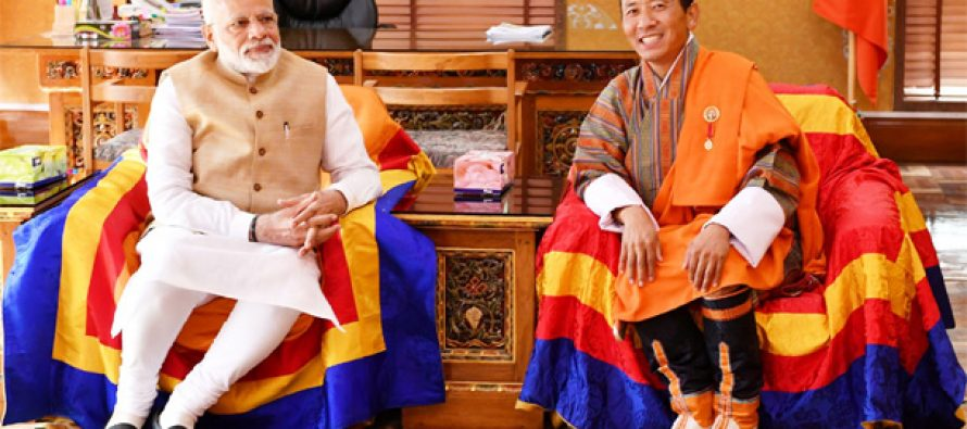 PM Modi seeks Bhutan's cooperation in new sectors
