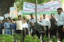 Dr. M. Ravi Kanth, CMD, HUDCO, planted saplings to launch a tree plantation drive