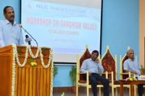 NLCIL – WORKSHOP ON GANDHIAN VALUES TO COLLEGE STUDENTS