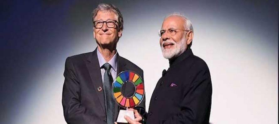 Modi receives Global Goalkeeper Award, dedicates it to 1.3 bn Indians