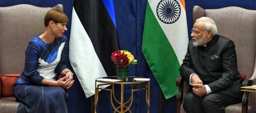Modi meets Estonian president, discusses cyber security