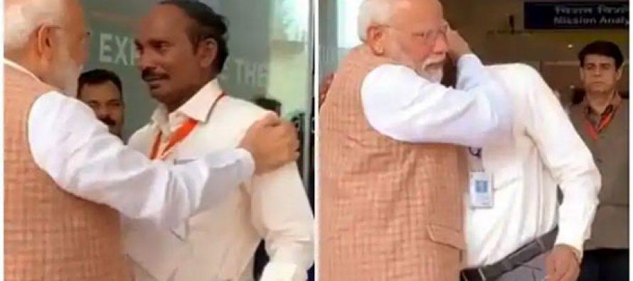 ISRO chief breaks down, Modi hugs, consoles him