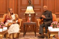 Sheikh Hasina, Prime Minister of the People's Republic of Bangladesh called on the President of India, Ram Nath Kovind