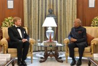 PRESIDENT HOSTS KING AND QUEEN OF NETHERLANDS; SAYS ECONOMIC PARTNERSHIP IS A KEY PILLAR OF INDIA-NETHERLANDS BILATERAL TIES