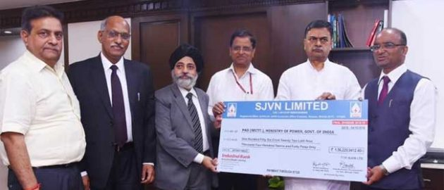 State-run SJVNL pays Rs 844.91 cr dividend to shareholders