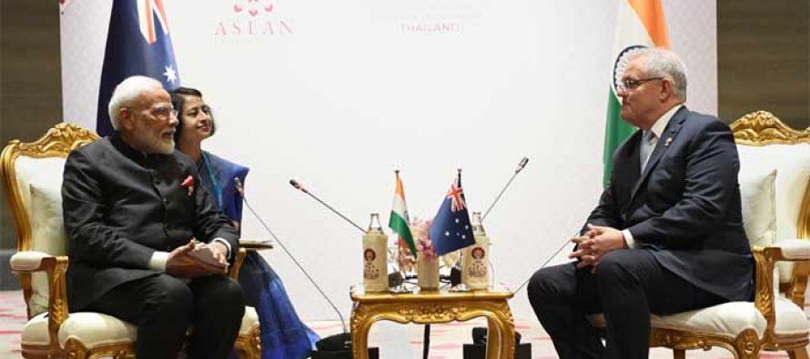 Modi, Morrison discuss Indo-Pacific peace, security