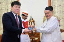 The newly appointed Ambassador of Kazakhstan to India Yerlan Alimbayev called on the Governor of Maharashtra Bhagat Singh Koshyari